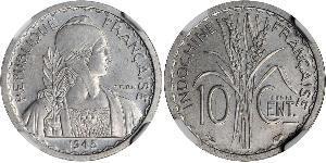 10 Cent French Indochina (1887-1954) Aluminium