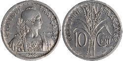 10 Cent French Indochina (1887-1954) Aluminium/Nickel