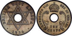 10 Cent British West Africa (1780 - 1960) Argent
