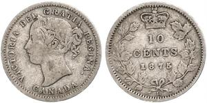 10 Cent Canada Argent Victoria (1819 - 1901)
