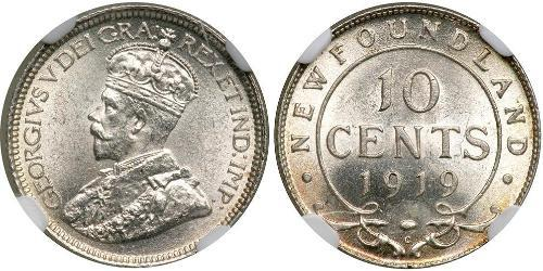 10 Cent Canada Argent George V (1865-1936)