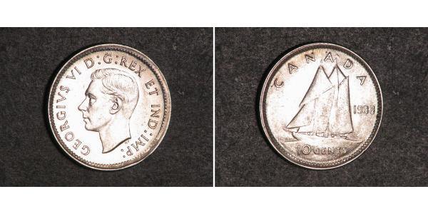 10 Cent Canada Argent George VI (1895-1952)