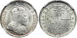 10 Cent Hong Kong Argent Édouard VII (1841-1910)