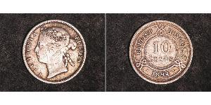 10 Cent British Honduras (1862-1981) Argento Vittoria (1819 - 1901)