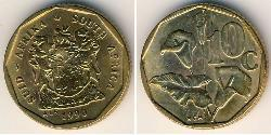 10 Cent South Africa Brass