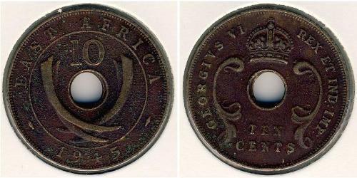 10 Cent África Oriental Bronce Jorge VI (1895-1952)