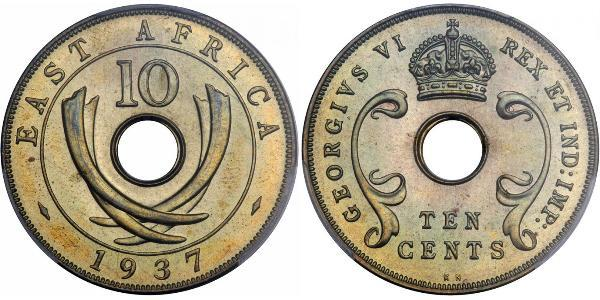 10 Cent East Africa Bronze George V of the United Kingdom (1865-1936)