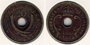 10 Cent Africa orientale Bronzo Giorgio VI (1895-1952)