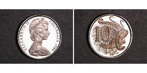 10 Cent Australia (1939 - ) Copper/Nickel Elizabeth II (1926-)