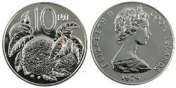 10 Cent Cook Islands Copper/Nickel Elizabeth II (1926-)