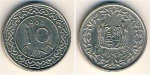 10 Cent Suriname Copper/Nickel