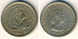 10 Cent  Copper/Nickel Elizabeth II (1926-)