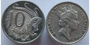 10 Cent Australien (1939 - ) Kupfer/Nickel Elizabeth II (1926-)