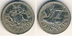 10 Cent Barbados Kupfer/Nickel
