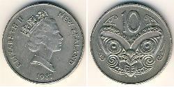 10 Cent Neuseeland Kupfer/Nickel