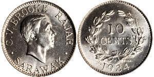 10 Cent Sarawak Kupfer/Nickel