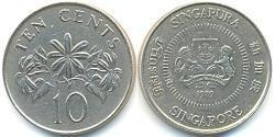 10 Cent Singapur Kupfer/Nickel