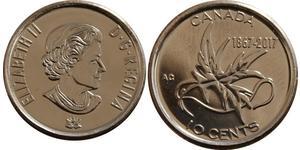 10 Cent Canadá Níquel Isabel II (1926-)