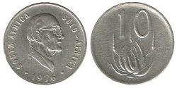 10 Cent Sudáfrica Níquel
