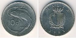 10 Cent Malta Níquel/Cobre