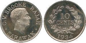 10 Cent Sarawak Níquel/Cobre