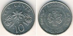 10 Cent Singapur Níquel/Cobre