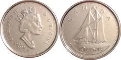 10 Cent Canada Nichel Elisabetta II (1926-)