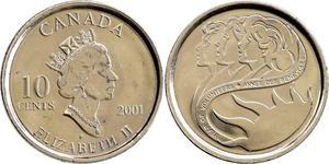 10 Cent Canada Nickel Elizabeth II (1926-)