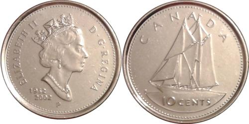 10 Cent Canada Nickel Elizabeth II (1926-)