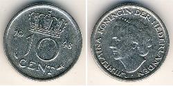 10 Cent Kingdom of the Netherlands (1815 - ) Nickel