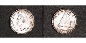 10 Cent Canadá Plata Jorge VI (1895-1952)