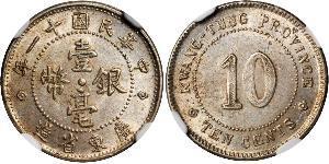 10 Cent República Popular China Plata