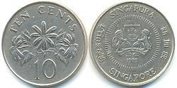 10 Cent Singapore Rame/Nichel