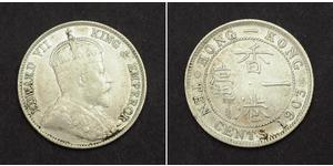 10 Cent Hongkong Silber Eduard VII (1841-1910)