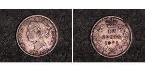 10 Cent Kanada Silber Victoria (1819 - 1901)