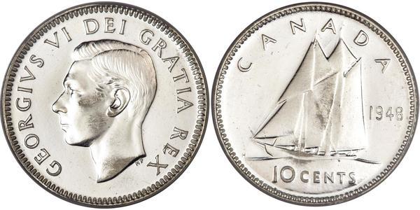 10 Cent Kanada Silber Georg VI (1895-1952)