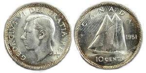 10 Cent Canada Silver George VI (1895-1952)
