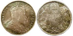 10 Cent Canada Silver Edward VII (1841-1910)
