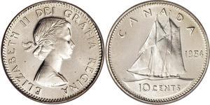 10 Cent Canada Silver Elizabeth II (1926-)