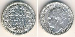10 Cent Kingdom of the Netherlands (1815 - ) Silver