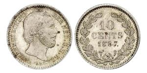 10 Cent Kingdom of the Netherlands (1815 - ) Silver William III of the Netherlands