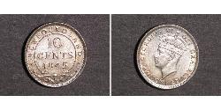 10 Cent Newfoundland and Labrador Silver George VI (1895-1952)