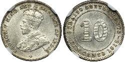 10 Cent Straits Settlements (1826 - 1946) Silver George V of the United Kingdom (1865-1936)