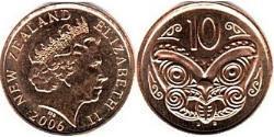 10 Cent New Zealand Steel/Copper