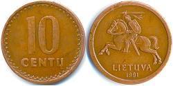10 Cent Lituania (1991 - ) Tin/Cobre/Zinc