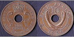 10 Cent África Oriental