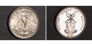 10 Centavo Filippine Argento