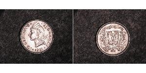 10 Centavo Repubblica Dominicana Argento