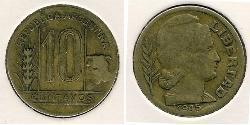 10 Centavo Argentine Republic (1861 - ) Brass