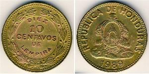 10 Centavo Honduras Brass